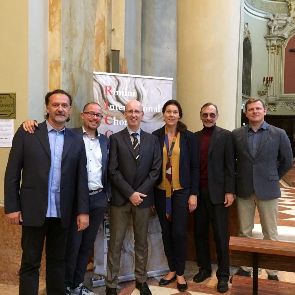 The jury Fabio Pecca, Italy Manolo Da Rold, Italy Andrea Angelini, Italy, Artistic Director  Margrethe Ek, Norway Anatoly Kiselev, Russia Eriks Esenvalds, Latvia, President of the jury